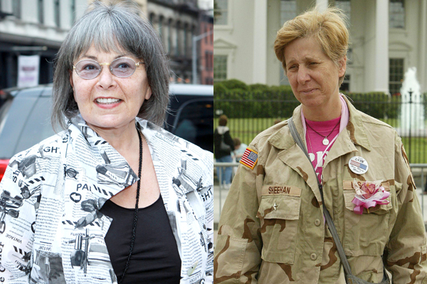 Cindy Sheehan becomes Roseanne Barr's running mate