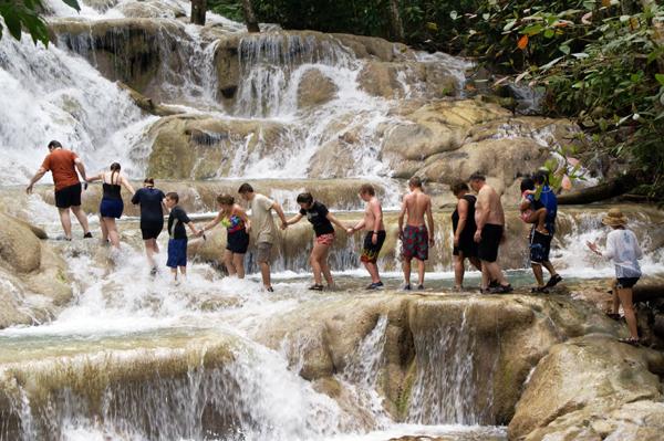 Climbing Dunn s River Falls, Jamaica