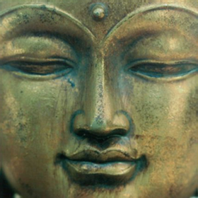 Golden Buddha print