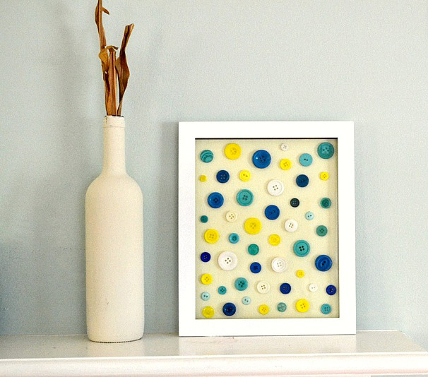 diy button frames