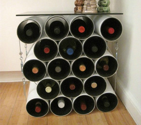 Great DIY racks to hold your favorite wines