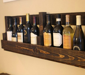 DIY Wine bottle shelf