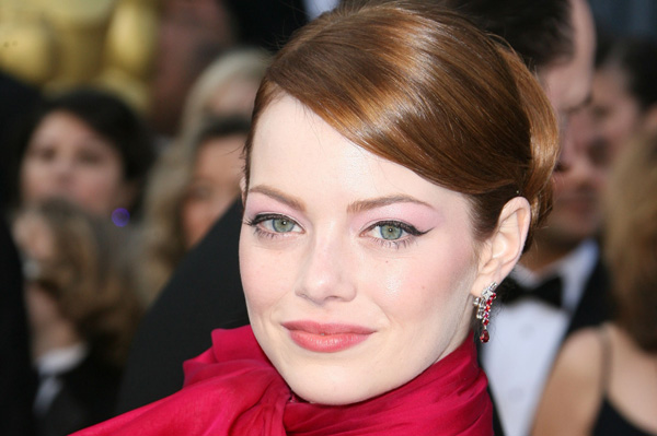 Emma Stone with winged eyeliner