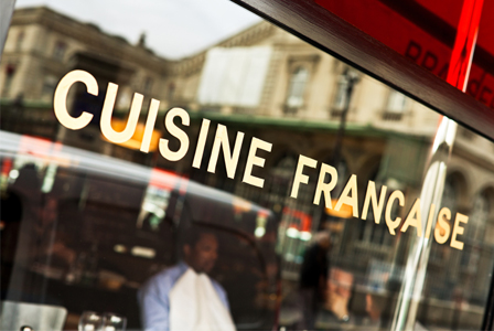 French Cuisine sign