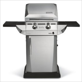 Char-Broil Quantum Infrared Urban Gas Grill with Folding Side Shelves
