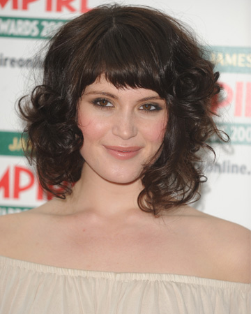 Strange Cool Hairstyle 2014 Curly Hairstyles With Straight Bangs Hairstyles For Women Draintrainus