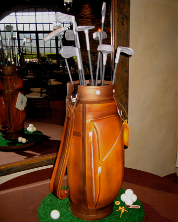 Groom cake: golf