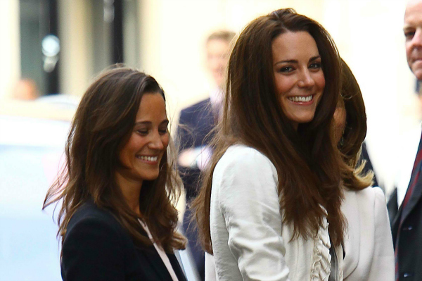 Kate and Pippa Middleton in London
