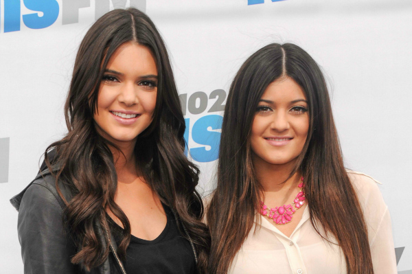 Kendall and Kylie Jenner in Los Angeles, California