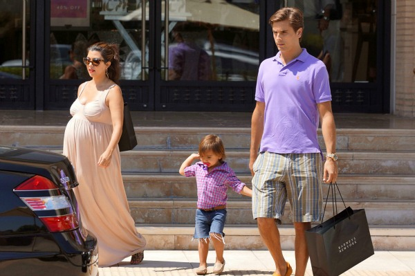 Kourtney, Mason, and Scott Disick Outside Barneys in Los Angeles