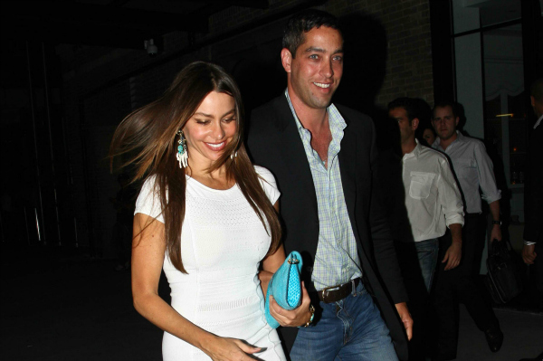 Sofia Vergara and Nick Loeb Leaving Dinner in NYC