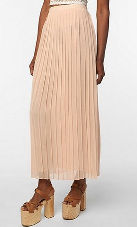 Sparkle & Fade Maxi Pleated Skirt