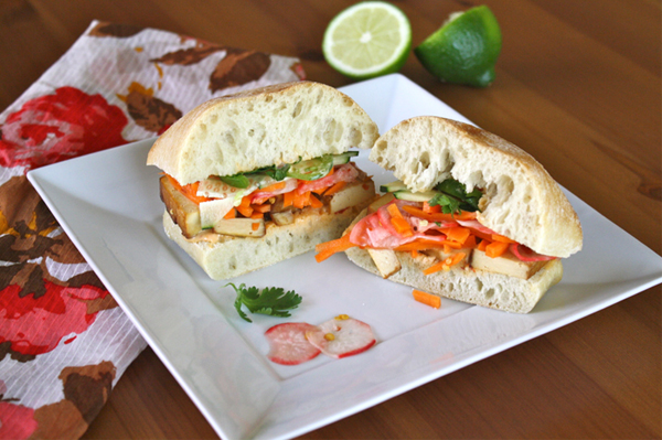 Meatless Monday: Spicy (tofu) banh mi sandwiches