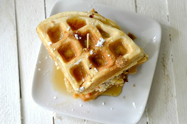 Mini Chicken And Waffle Sandwich Recipe