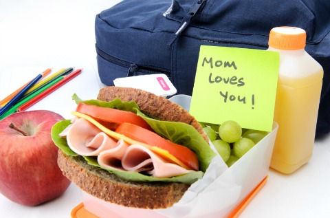 mom lunch note