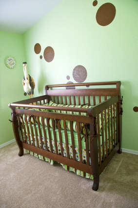 Nursery with simple shapes