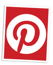 Pinterest logo header