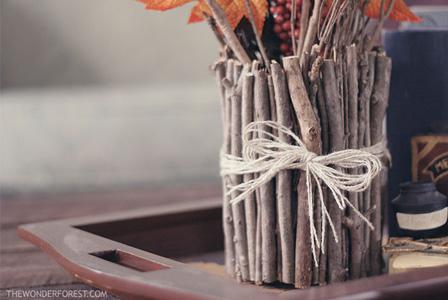 Vase out of sticks