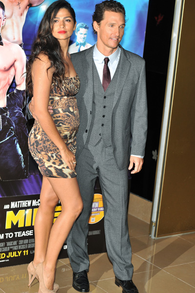 Pregnant Camila Alves and Matthew McConoughey