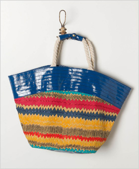 bead-embroidered tote