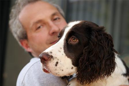 Prisoner with rehab dog