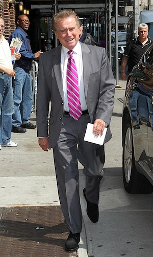 Regis Philbin upset over Penn State sanctions.
