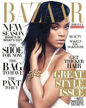 Rihanna looks long & lean in Harper's