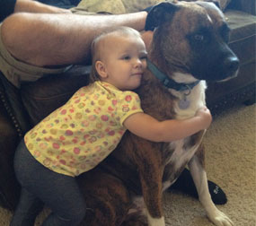 Kids and their four-legged friends