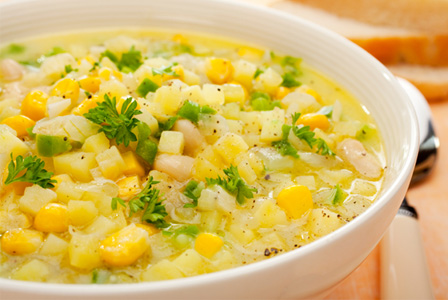 Slow cooker corn and shrimp chowder recipe