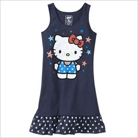 Hello Kitty ruffled tank dress