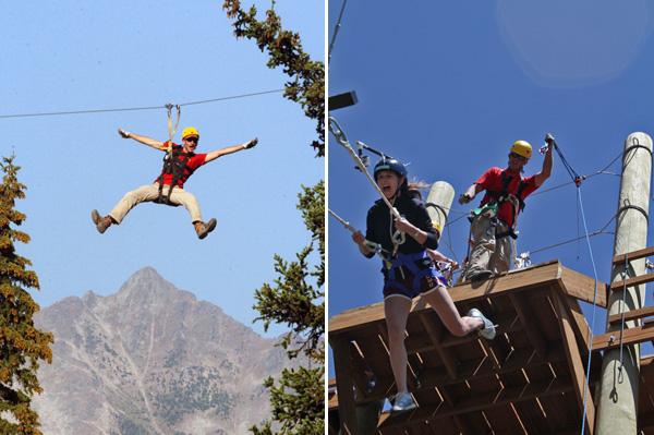 Zip line at Big Sky Resort