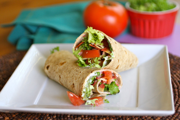 Blue cheese BLT wraps