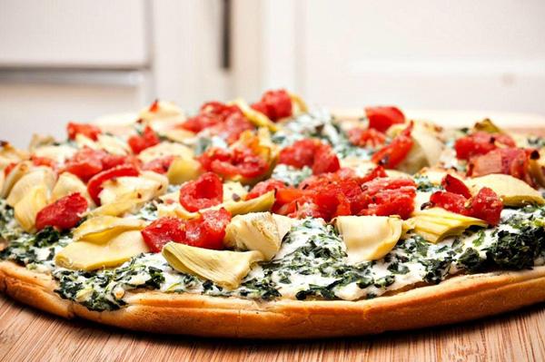 Spinach and artichoke dip pizza recipe