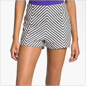 Chevron striped shorts