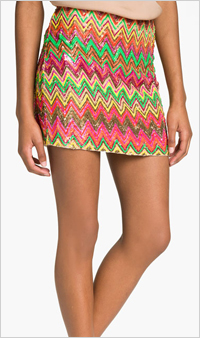 Our pick: Haute Hippie Chevron Mini Skirt, $495, Nordstrom.com