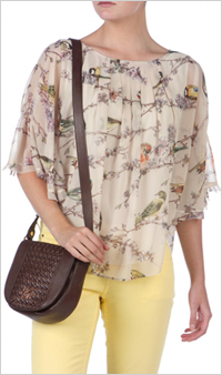 Our pick: Ted Baker Birdie Print Top, $165, Ted Baker.com