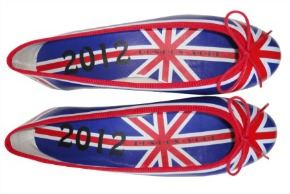 French sole Union Jack pump