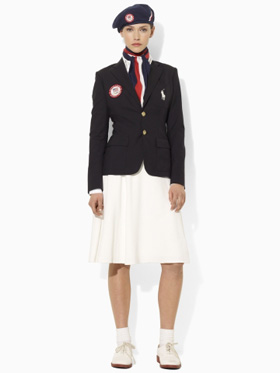Women's opening ceremonies outfit