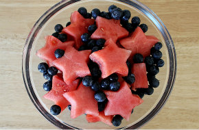 Fourth of July watermelon salad