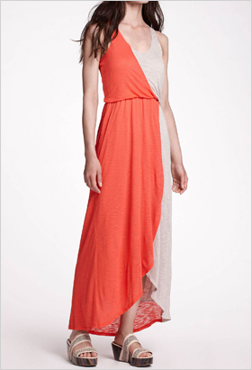 Two-toned maxi dress