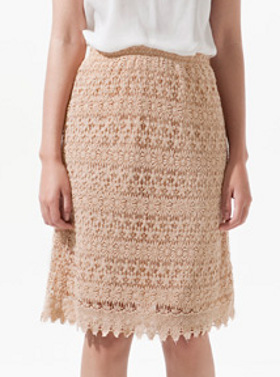 Zara's Long Guipure Lace Skirt