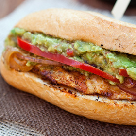 Grilled fajita chicken sandwiches