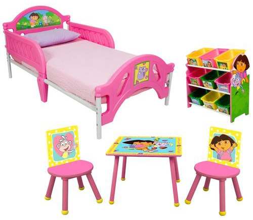 Dora the Explorer room in a box