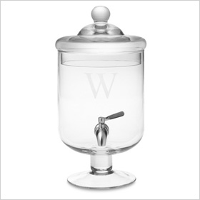 Glass Footed Beverage Dispenser