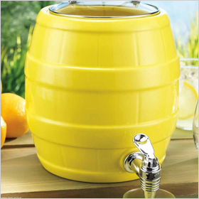 Ceramic Yellow Drink Dispenser