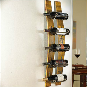 barrel stave wine rack ($100)