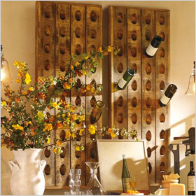 French wine bottle riddling rack ($249)