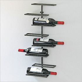 urban wall-mounted wine rack