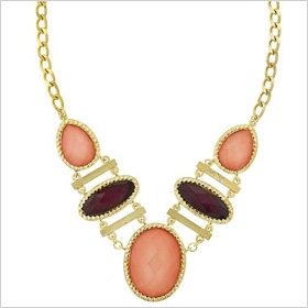 Ravishing raspberry necklace