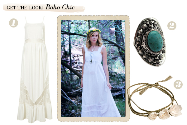 boho chic vintage collage